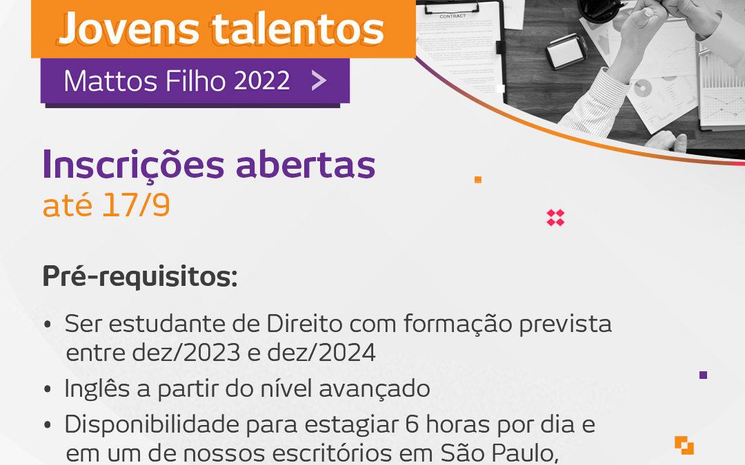 Jovens talentos 2022 – Inscrições abertas!